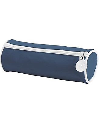 Blafre Cylindrical Pencil Case with Zipper, Navy - 22 x 8 cm Pencil Cases