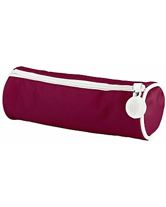 Blafre Cylindrical Pencil Case with Zipper, Plum Red - 22 x 8 cm Pencil Cases