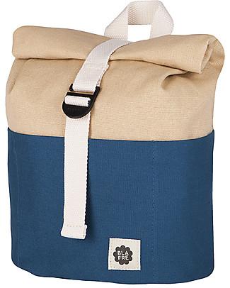 Blafre Roll Top Backpack 3-7 years, Navy/Beige Large Backpacks