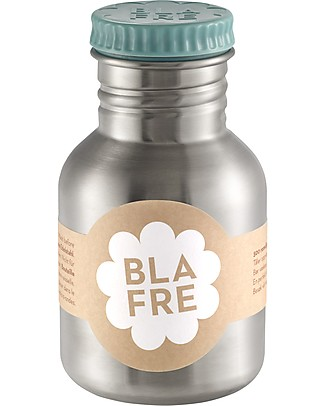 Blafre Stainless Steel Bottle 300 ml, Light Blue - BPA and phthalates free! Metal Bottles