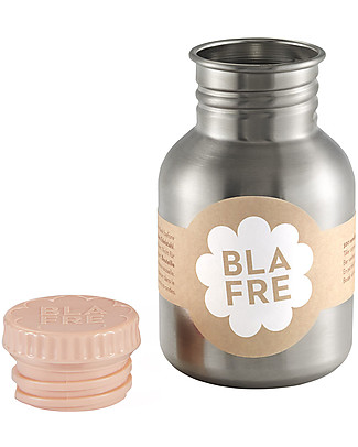 Blafre Stainless Steel Bottle 300 ml, Peach - BPA and phthalates free! Metal Bottles