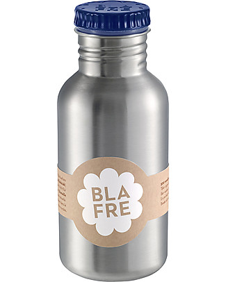 Blafre Stainless Steel Bottle 500 ml, Dark Blue - BPA and phthalates free! Metal Bottles