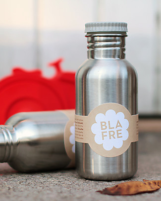 Blafre Stainless Steel Bottle 500 ml, Gray - BPA and phthalates free! Metal Bottles