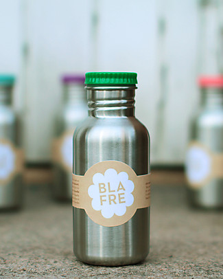 Blafre Stainless Steel Bottle 500 ml, Green - BPA and phthalates free! Metal Bottles