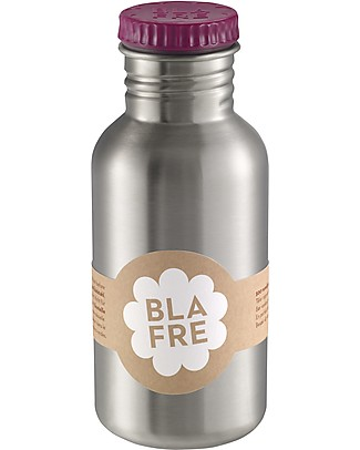Blafre Stainless Steel Bottle 500 ml, Plum - BPA and phthalates free! Metal Bottles