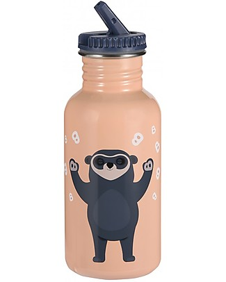 Blafre Stainless Steel Bottle Bear 500 ml, Peach - BPA and phthalates free! Metal Bottles