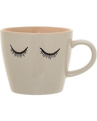 Bloomingville Audrey Mug, White - Stoneware Cups & Beakers