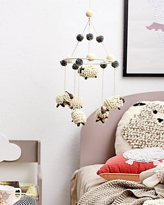 Bloomingville Baby Mobile, 23x87 cm - 100% Wool Mobiles