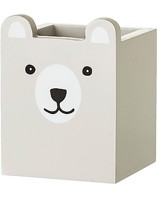 Bloomingville Bear Pen Holder, Grey - MDF Tables And Chairs