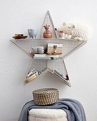 Bloomingville Metal Wall Box Display, Star - 63x13x62 cm Shelves