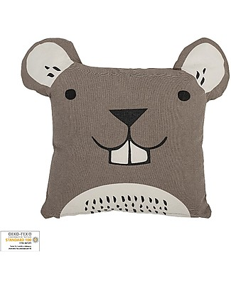 Bloomingville Mouse Cushion, 40x40 cm - 100% cotton Cushions