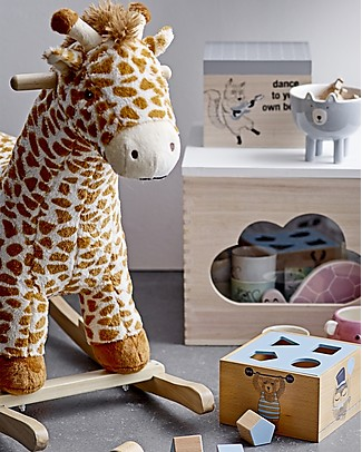 Bloomingville Rocking Giraffe, Multicolor - Poplar Wood Rides On