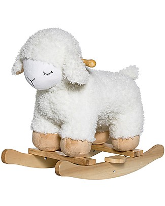 Bloomingville Rocking Sheep, White - Beech Wood Rides On