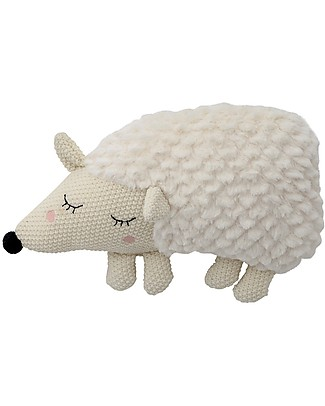 Bloomingville Soft Toy Plush Hedgehog, White - Cute and Funny Soft Toys