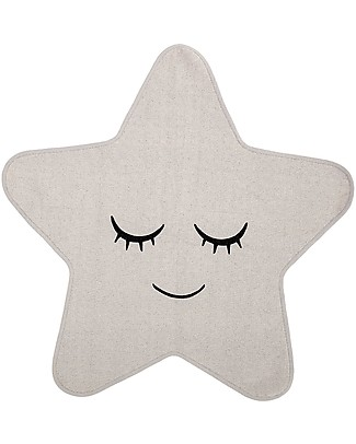 Bloomingville Star Rug, White - 100 cm Carpets