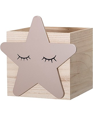 Bloomingville Toy Box, Star - Paulownia Wood Toy Storage Boxes