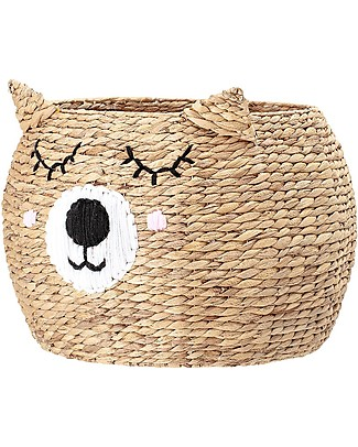 Bloomingville Toy's Basket, Bear - Water Hyacinth Toy Storage Boxes
