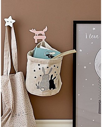 Bloomingville Wall Hook, White Star - MDF Hangers & Hooks