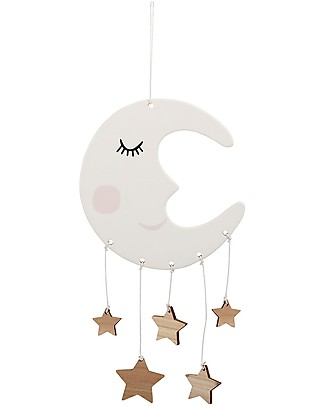 Bloomingville White Moon Baby Mobile, 16x31 cm - Stoneware Mobiles