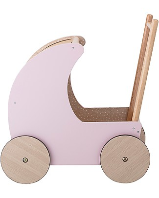 Bloomingville Wooden Toy Pram, Pink - MDF Toy Prams