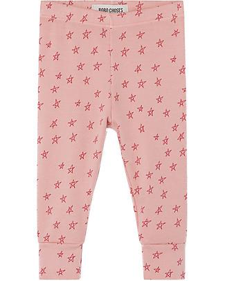 Bobo Choses Girl Leggings, All Over Stars - Elasticated Organic Cotton Leggings
