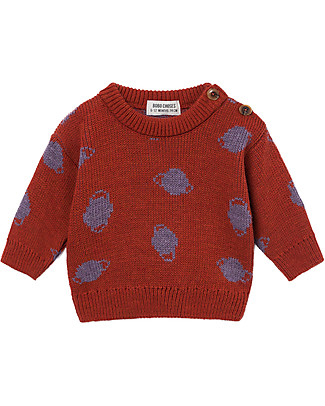 Bobo Choses Jaquard Baby Jumper, Small Saturn - Knitting Stitch Jumpers