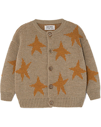 Bobo Choses Jaquard Cardigan, Stars - Knitted in Geometric Pattern! Cardigans