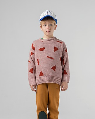Bobo Choses Jaquard Jumper, Stuff - Knitted in Geometric Pattern! Jumpers