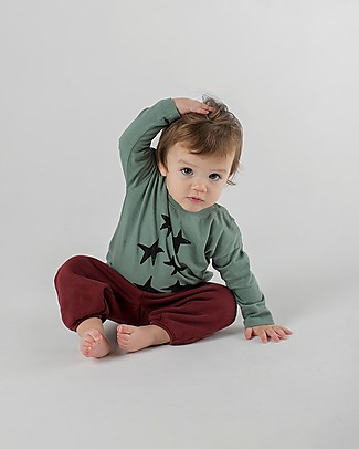 Bobo Choses Jogging Pants, Saturn - 100% Organic Cotton Trousers