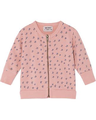 Bobo Choses Zipped Sweatshrt, All Over Stars - 100% Organic Cotton Sweatshirts