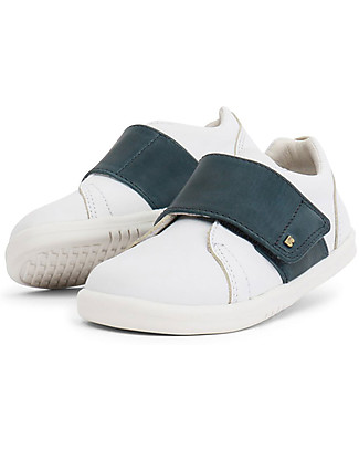 Bobux I-Walk Boston Trainer, White/Navy - All-occasion Shoe! Shoes