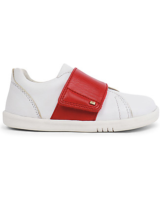 Bobux I-Walk Boston Trainer, White/Red – All-occasion Shoe! Shoes