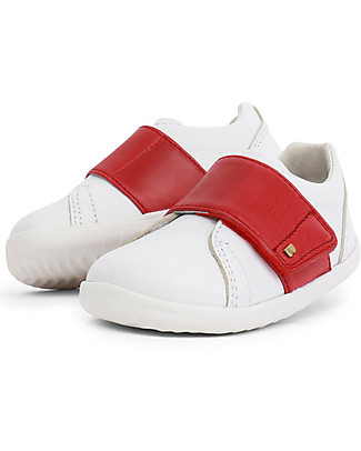 Bobux I-Walk Boston Trainer, White/Red - All-occasion Shoe! Shoes