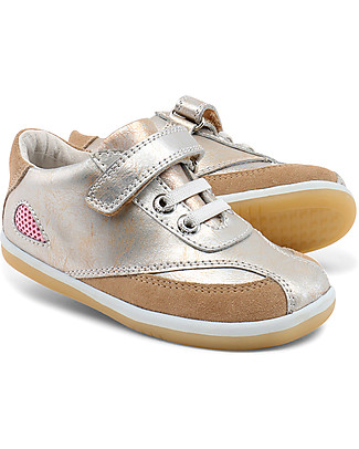 Bobux I-Walk Classic Shimmer Sport, Molten Gold-Silver - Super flexible sole! Shoes