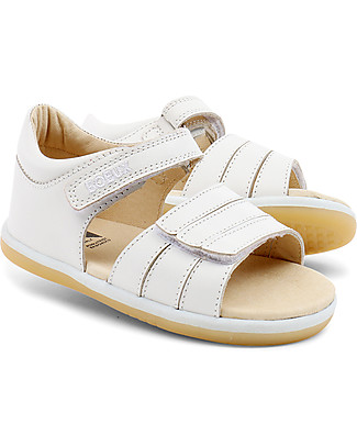 Bobux I-Walk Classic Spring Sandal, White - Super flexible sole! Shoes