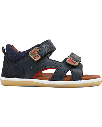 Bobux I-Walk Classic Wave Sandal, Navy/Red - Super flexible sole! Shoes