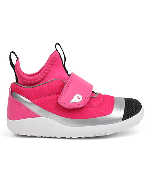 Bobux I-Walk Hi Dimension Shoe, Fuchsia/Silver - Super comfort for active feet! Shoes