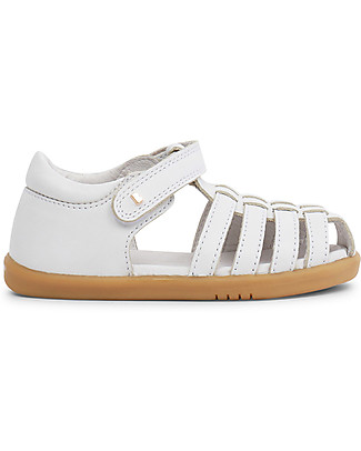Bobux I-Walk Jump Sandal, White - Super flexible sole! Shoes