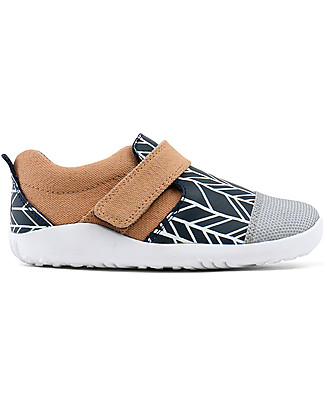 Bobux I-Walk Play Aktiv Shoe, Navy/Sand - Super flexible sole! Shoes