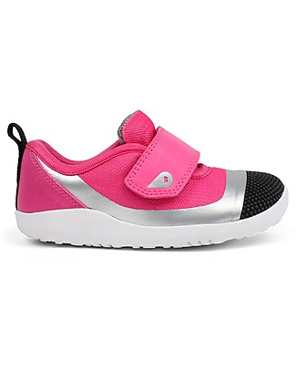 Bobux I-Walk Play Lo Demension, Fuchsia/Silver - Super flexible, ideal for outdoors Shoes