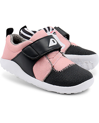 Bobux I-Walk Play Shoe, Blaze Zebra Pink/Grey - Super flexible sole! Shoes