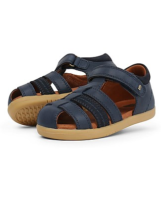 Bobux I-Walk Roam Sandal, Navy Blue – Super flexible sole! Shoes