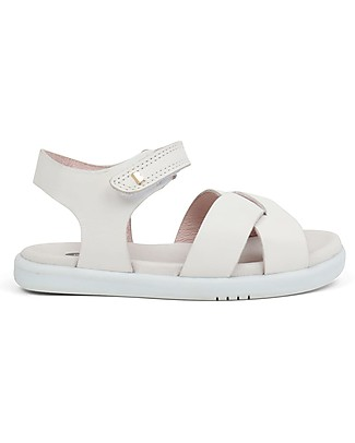 Bobux I-Walk Roman Sandal, White - Super flexible sole! Shoes