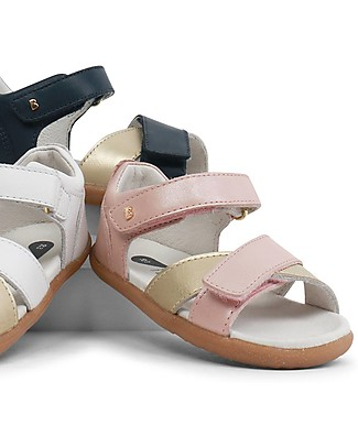 Bobux I-Walk Sail Sandal, Blush/Gold - Super flexible sole! Shoes
