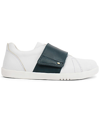 Bobux Kid Boston Shoe, White/Navy - Super flexible sole! Shoes