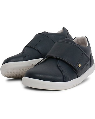 Bobux Kid Boston Trainer, Navy – All-occasion Shoe for Kids! Shoes