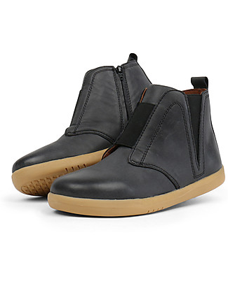 Bobux Kid Signet Boot, Black Ash – Simple but Stilish! Shoes