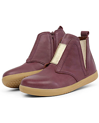Bobux Kid Signet Boot, Plum – Simple but Stylish! Shoes