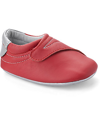 Bobux New Born Shoe Big Hitters Red - 100% Leather Shoes