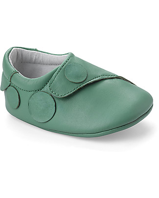 Bobux New Born Shoe Tutti Frutti - Apple Green - 100% Leather Shoes